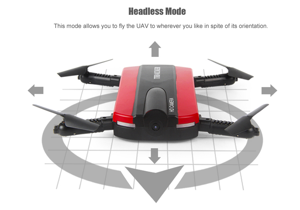 Golden Star JXD 523 Foldable Mini Drone (Camera, 480p Video, WiFi iPhone/Android Control, FPV, 40M Range)