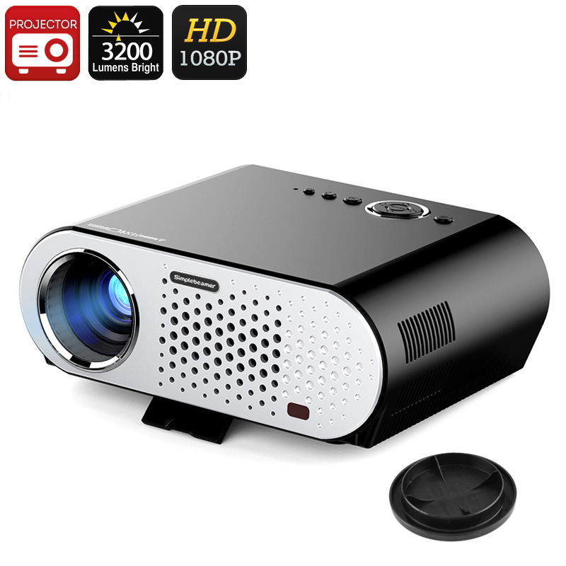 Wholesale ViviBright SimpleBeamer GP90 1080P HD LED Projector (3200 Lumen,