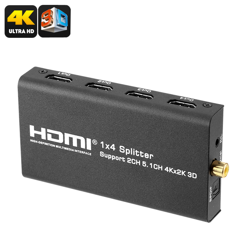 Wholesale HDMI Converter Separator Splitter with 4 HDMI Output (4K Media / Audio, 10.2Gbps)