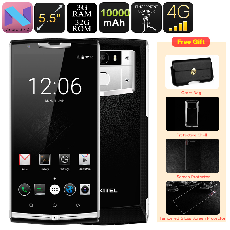 Wholesale Oukitel K10000 Pro 5.5 Inch Android 7.0 Phone with 10000mAh High Capacity Battery (Octa-Core CPU, 3GB RAM, 32GB)