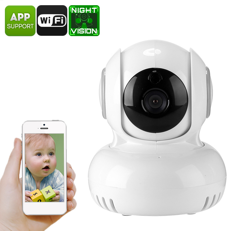 Wholesale 1/4 Inch CMOS PTZ Indoor IP Camera (720p HD, Two Way Audio, Night Vision, WiFi, Phone Access)