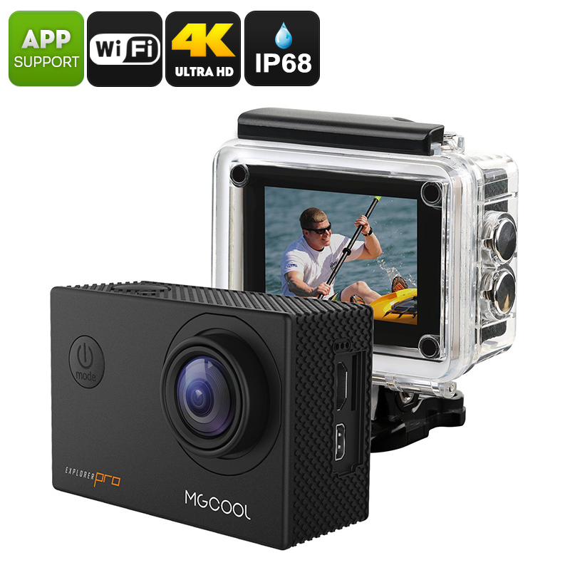 Wholesale MGCOOL Explorer Pro 16MP 4K Sports Action Camera (IP68 Waterproof Case, WiFi, 1/3.2 Inch IMX179 CMOS, App Control)