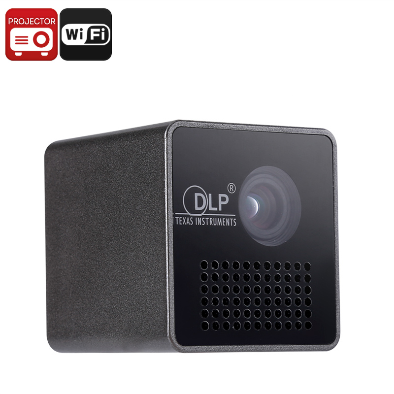Wholesale WiFi Mini DLP LED Projector with Built-in Speaker (1080p, 70 Inches, 950mAh)