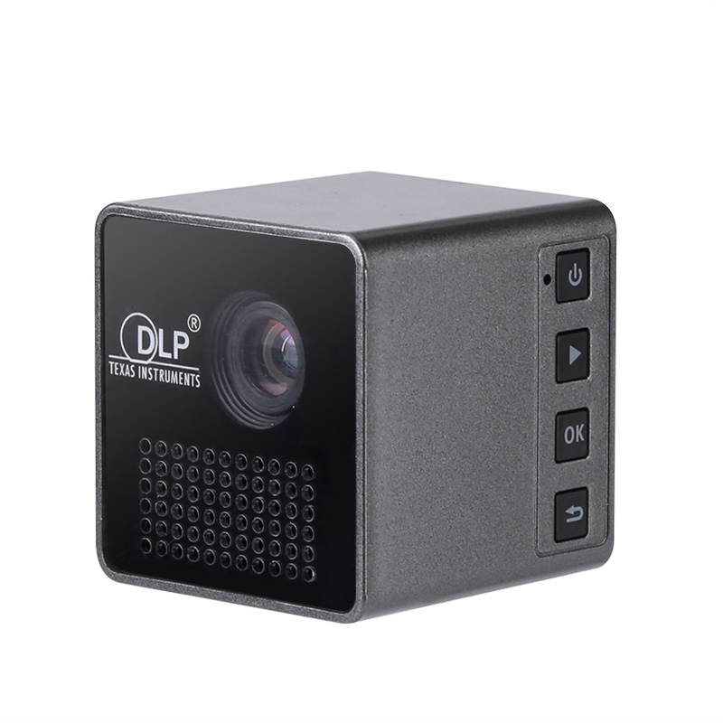 WiFi Mini DLP LED Projector with Built-in Speaker (1080p, 70 Inches, 950mAh)