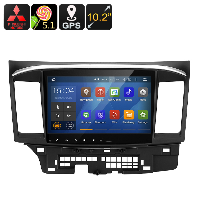 Wholesale 10.2 Inch 2 DIN Android Car Media Player with Quad-Core CPU, Bluetooth, GPS, Wi-Fi, 16GB - For Mitsubishi Lancer
