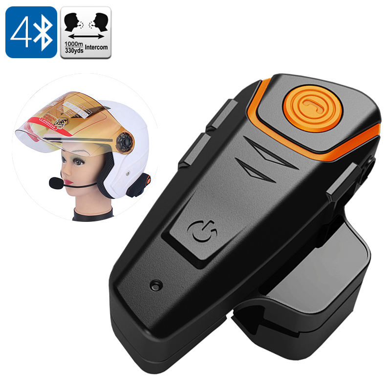 Motorcycle Bluetooth Headset Intercom For Helmet 1000 Meter Range Handsfree Calls Fm Radio Gps Connection Cvaiv A841 Us 32 86 Plusbuyer Com
