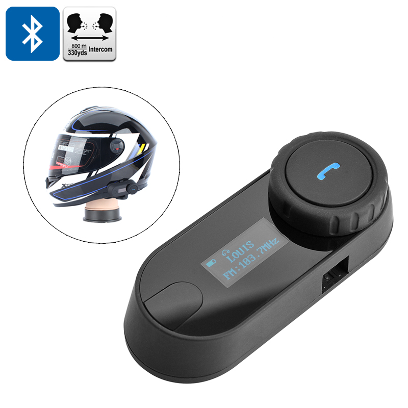 Wholesale Motorcycle Bluetooth Headset Intercom (800m Range, Handsfree Call, FM Radio, HiFi Earphones)