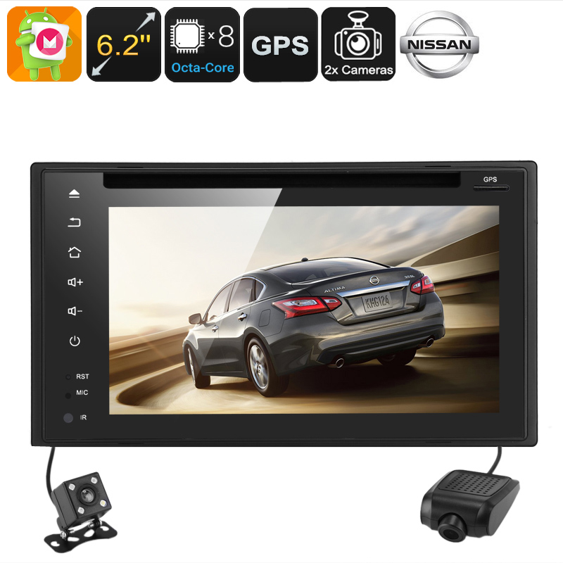 Wholesale 6.2 Inch Region Free 2 DIN Android DVD Player with GPS, Car DVR, Parking Camera - For Nissan