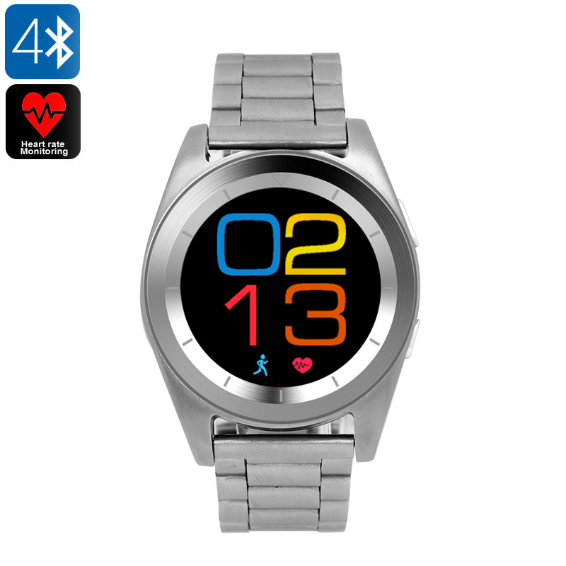 Wholesale No.1 G6 Bluetooth 4.0 Sports Watch with Fitness Tracker - Steel Silver