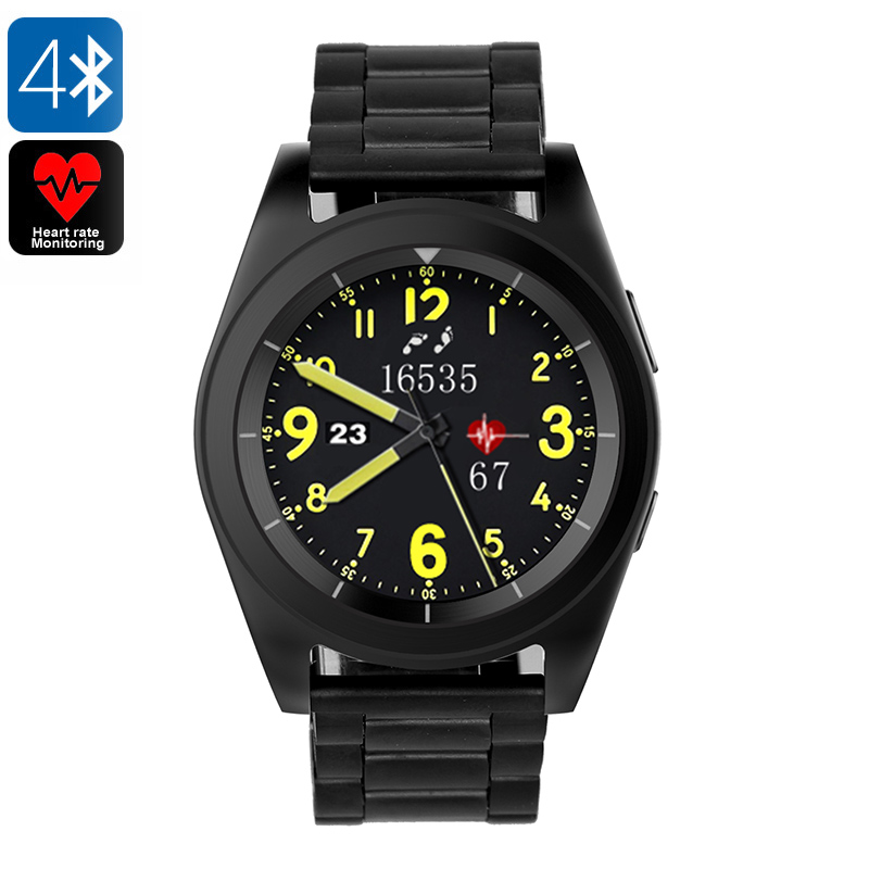 Wholesale No.1 G6 Bluetooth 4.0 Sports Watch with Fitness Tracker - Steel Black