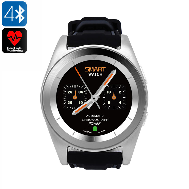 Wholesale No.1 G6 Bluetooth 4.0 Sports Watch with Fitness Tracker - Silver TPU