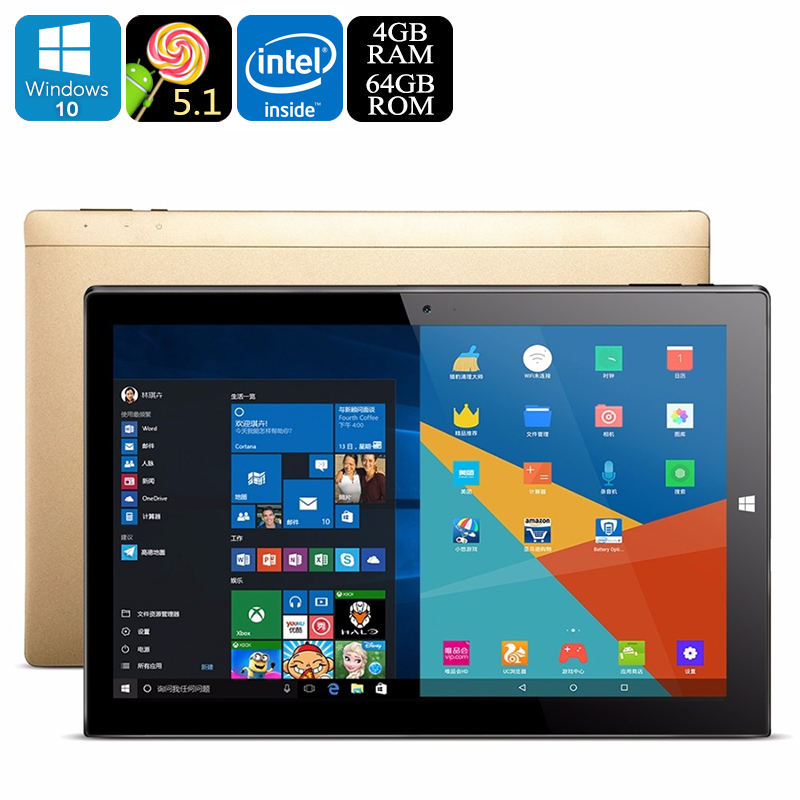 Wholesale Onda OBook 20 Plus 10.1 Inch Windows 10 + Android 5.1 Tablet PC (1920x1080, Quad-Core CPU, OTG, 4GB RAM, 64GB)