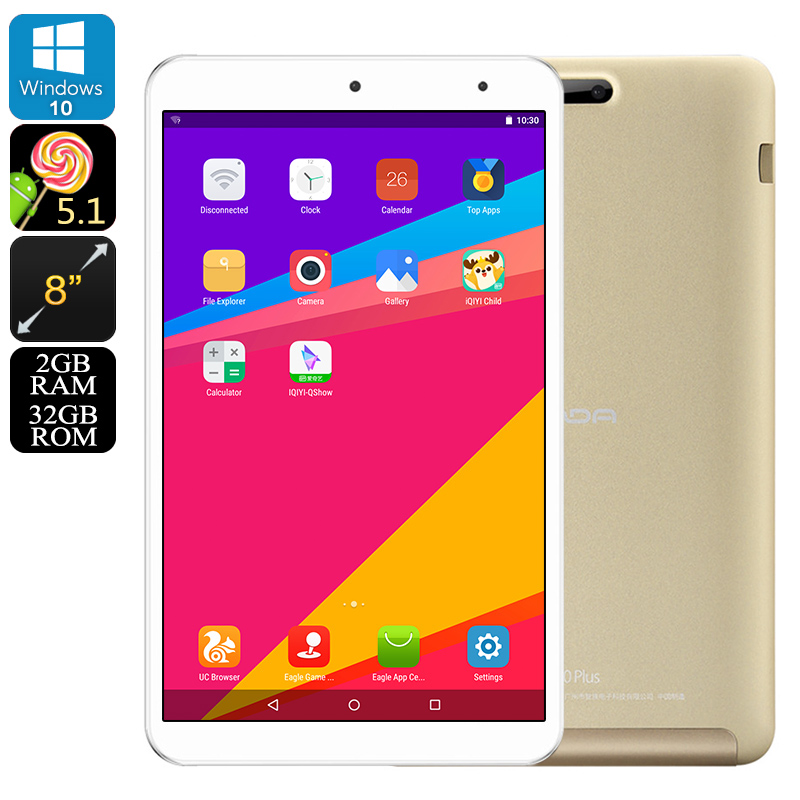 Wholesale Onda V80 Plus 8 Inch IPS Windows 10 + Android 5.1 Tablet PC (Z8350 Quad-Core CPU, 2GB RAM, 1920x1200, 32GB)