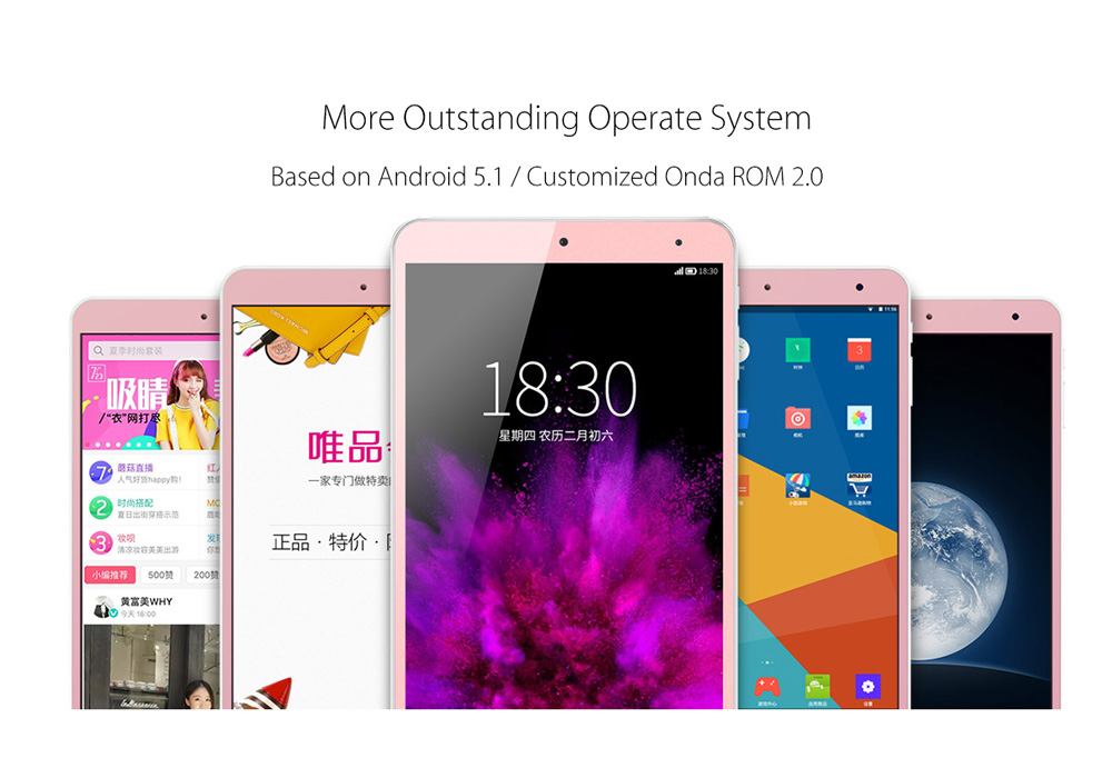 Onda V80 SE 8 Inch Android Tablet PC (3D Game, Quad-Core CPU, Wi-Fi, OTG, 32GB)