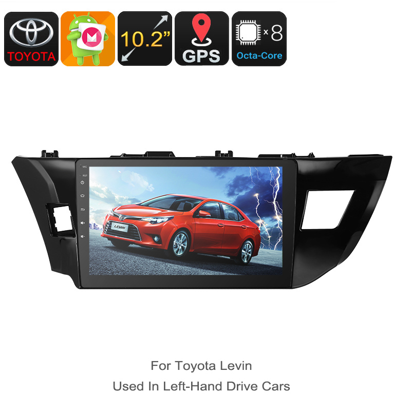 Wholesale 10.2 Inch One DIN Android Car Stereo For Toyota Levin (GPS, Octa-Core, WiFi, 3G, CAN BUS, Bluetooth)
