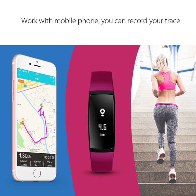 Ordro S11 IP67 Waterproof Smart Sports Bracelet (Bluetooth 4.0, Pedometer, Heart Rate Monitor, Blue)