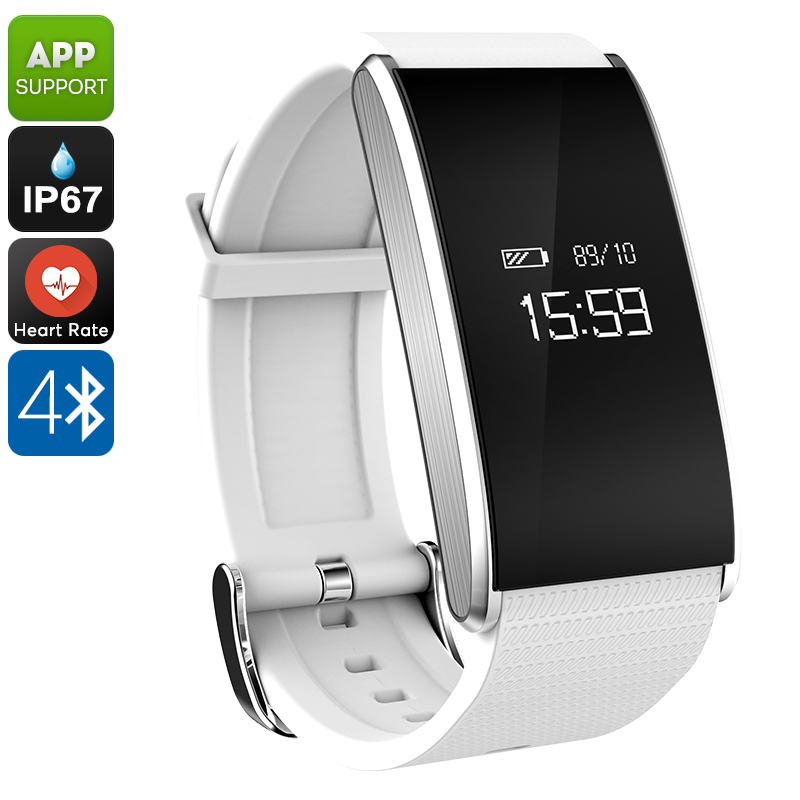 Wholesale Ordro S12 Fitness Bracelet - Heart Rate, Pedometer, Message Notification, Sleep Monitor, Call Reminder, Anti-Lost (White)
