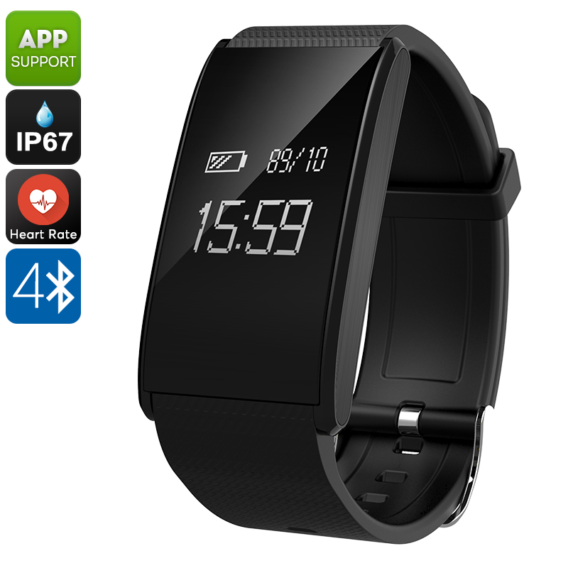 Wholesale Ordro S12 Fitness Bracelet with Pedometer, Heart rate, Sleep Monitor, Call Reminder - Black