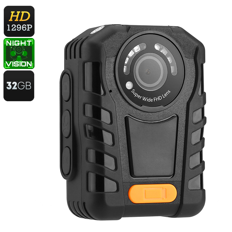 Wholesale Night Vision Police Body Camera + Car DVR (IP65 Waterproof, Motion Detection, 1296p, 5MP CMOS, 32GB)