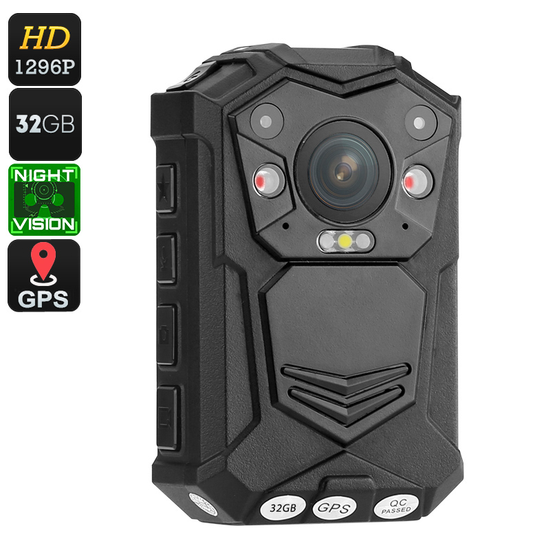 Wholesale IP65 Waterproof Police Body Worn Camera (Car DVR, 10M Night Visi