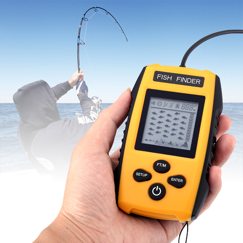 Wholesale Sonar Portable Fish Finder (100 Meter Depth, Alarm, Fish Size Detection)