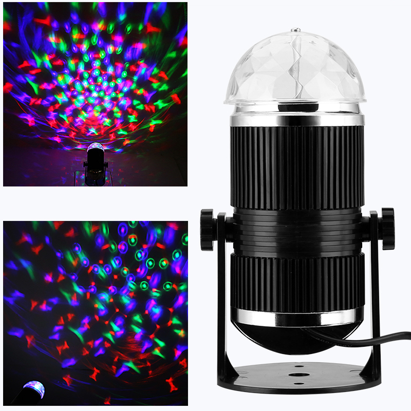 Wholesale Sound Activated Rotating RGB LED Music Disco Stage Light for Nightclub, Family Union