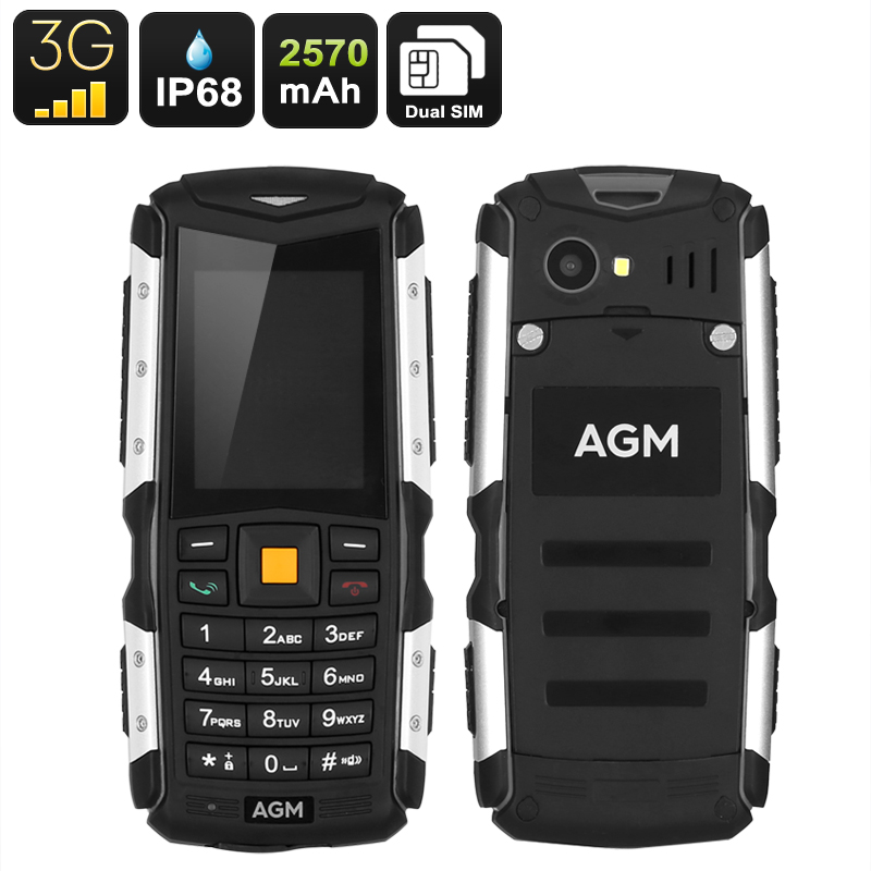 Wholesale AGM M1 Rugged 3G Mobile Phone (IP68 Waterproof, Dual SIM, 2MP Camera)