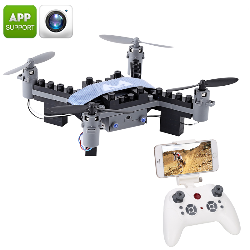 Wholesale SMRC M3 Blocks DIY Mini Drone with 6 Axis Gyro and FPV Camera (Headless Mode, 3D Flip, Android/iPhone Control)