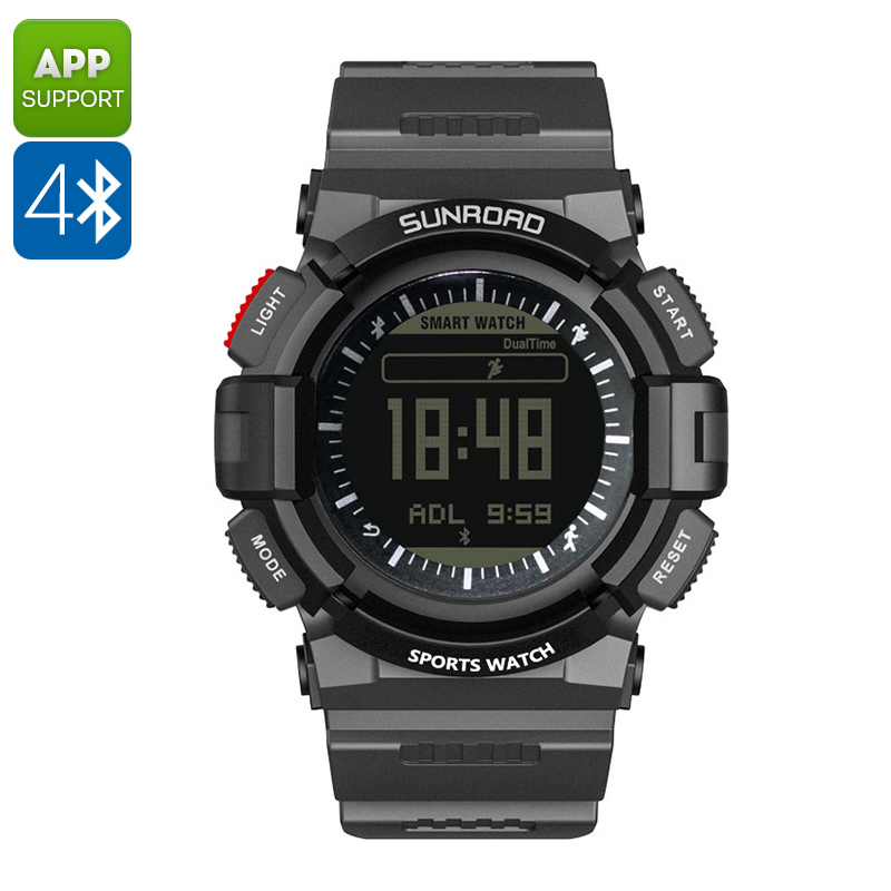 Wholesale SUNROAD FR9211B Weatherproof Bluetooth Sports Watch with Heart Rate Monitor, Sleep Monitor, Android/iPhone Sync