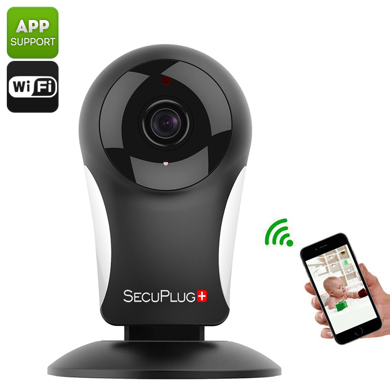 Wholesale SecuPlug+ SP05 Two Way Audio 960p Mini IP Camera (Wi-Fi, Nightvision, Alarm, Cell Phone View)