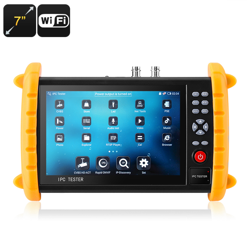 Wholesale 7 Inch Touchscreen Surveillance Camera Tester for CCTV/IP/Wireless/Analog Camera (1280x800, ONVIF, Wi-Fi, 1000mAh)