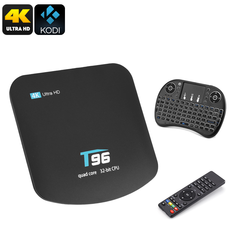 Wholesale T95 Android 4K TV Box with 92 Keys Qwerty Wireless Keyboard Game Controller