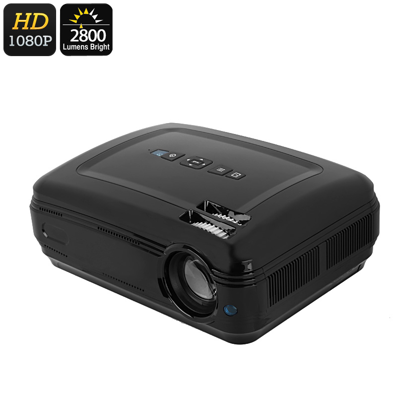 Wholesale 1080p Full HD LED Projector with 5.8 Inch LCD Panel (2800 Lumen, 200 Inch, 6 Meter, 155W