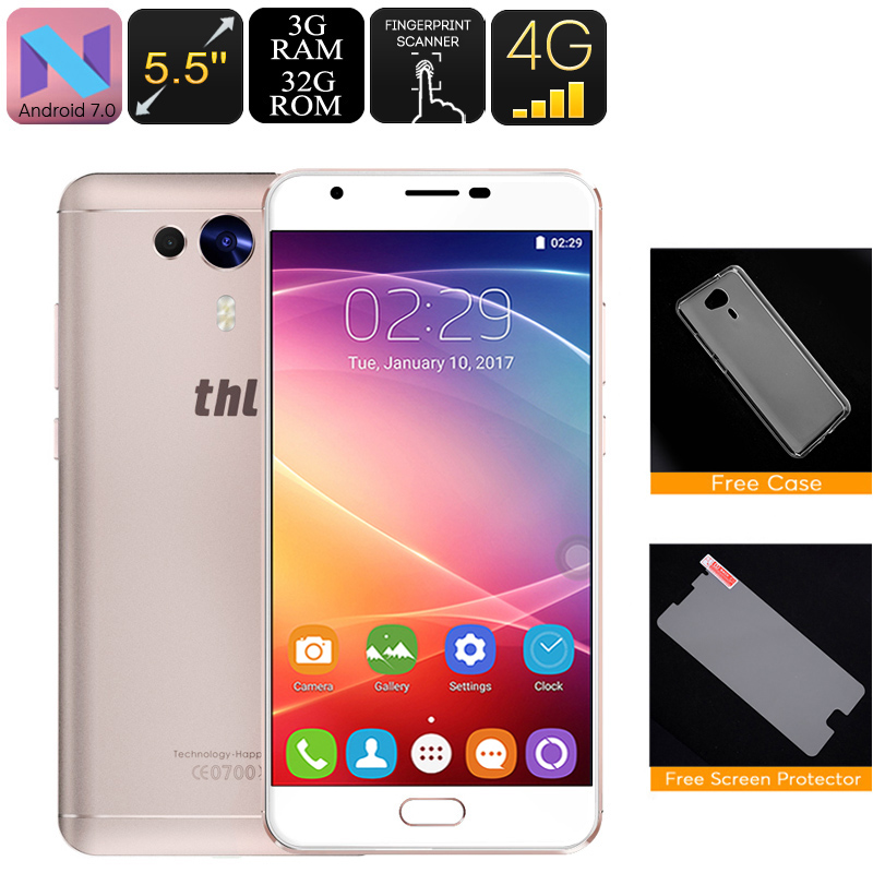 Wholesale THL Knight 1 5.5 Inch Android 7.0 Phone (4G, Octa Core CPU, 3GB