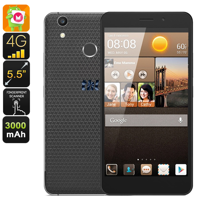 Wholesale THL T9 Plus 5.5 Inch HD Android Smartphone (Dual IMEI, 4G, Quad-Core CPU, 16GB, Black)