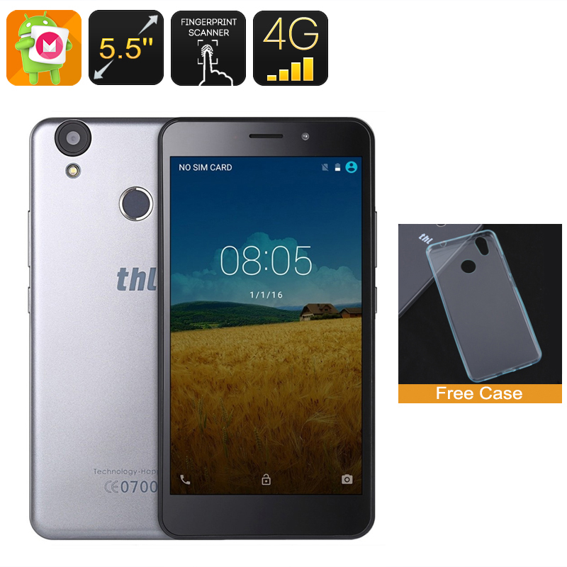 Wholesale THL T9 5.5 Inch HD 4G Smartphone (Android 6.0, Fingerprint Scanner, 8MP Camera, 16GB, Silver)