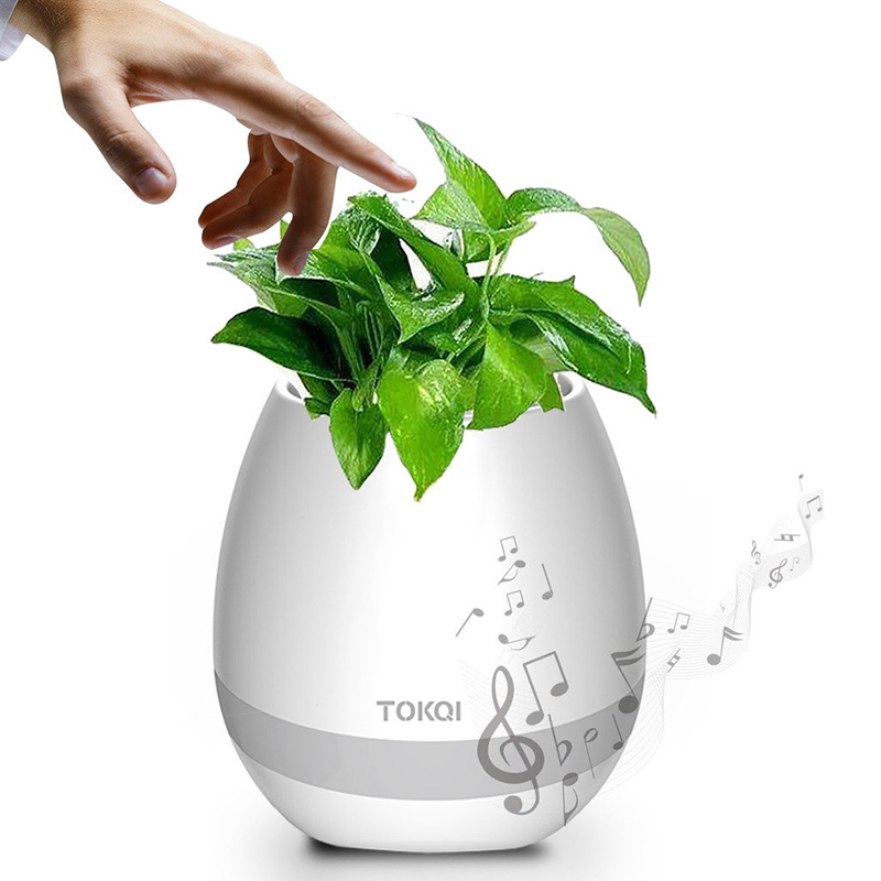 Wholesale TOKQI Smart Flower Pot (Bluetooth Speaker, 1200mAh, Color Light,