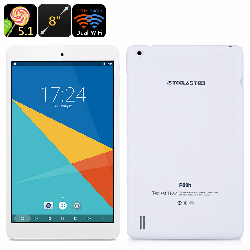 Wholesale Teclast P80H 8 Inch Android Tablet (1280x800, OTG, HDMI Out, Quad-Core CPU, Dual-Band WiFi)