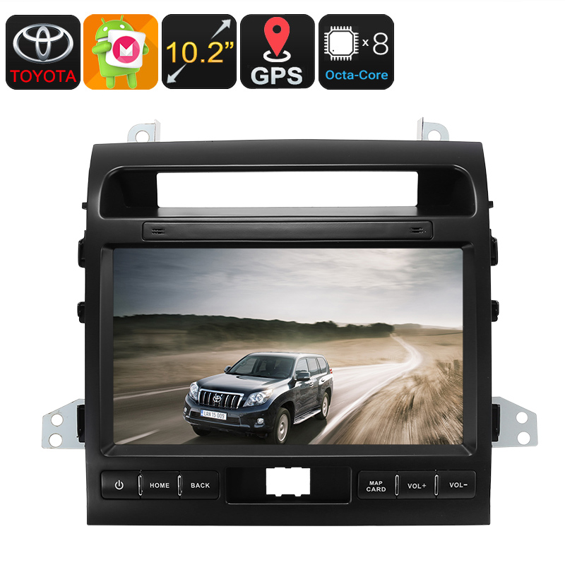 Wholesale 10.2 Inch Two DIN Android Car Media Player for Land Cruiser (Bluetooth, GPS, WiFi, 3G, Octa-Core CPU, 32GB)