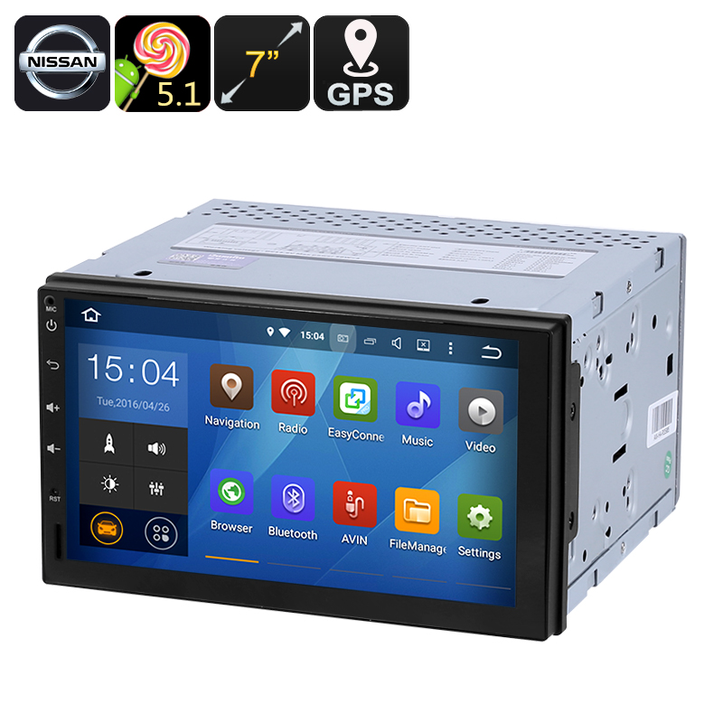 Wholesale 7 Inch 2 DIN Android Car Media Player for Nissan (GPS, Bluetooth, FM Radio, 16GB)