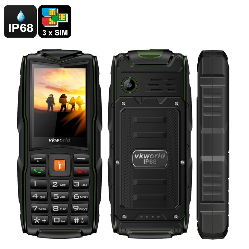 Wholesale VKWorld New Stone V3 Rugged Cell Phone with 3 GSM SIM Card Slot