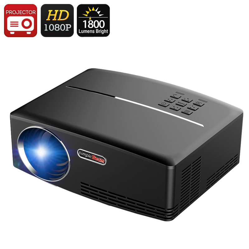 Wholesale ViviBright GP80 1800 Lumen 1080p Portable LED Projector (Stereo