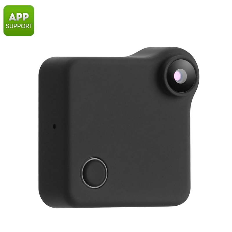 Wearable Mini WiFi Hidden IP Camera (720p HD, Motion Detection, 90