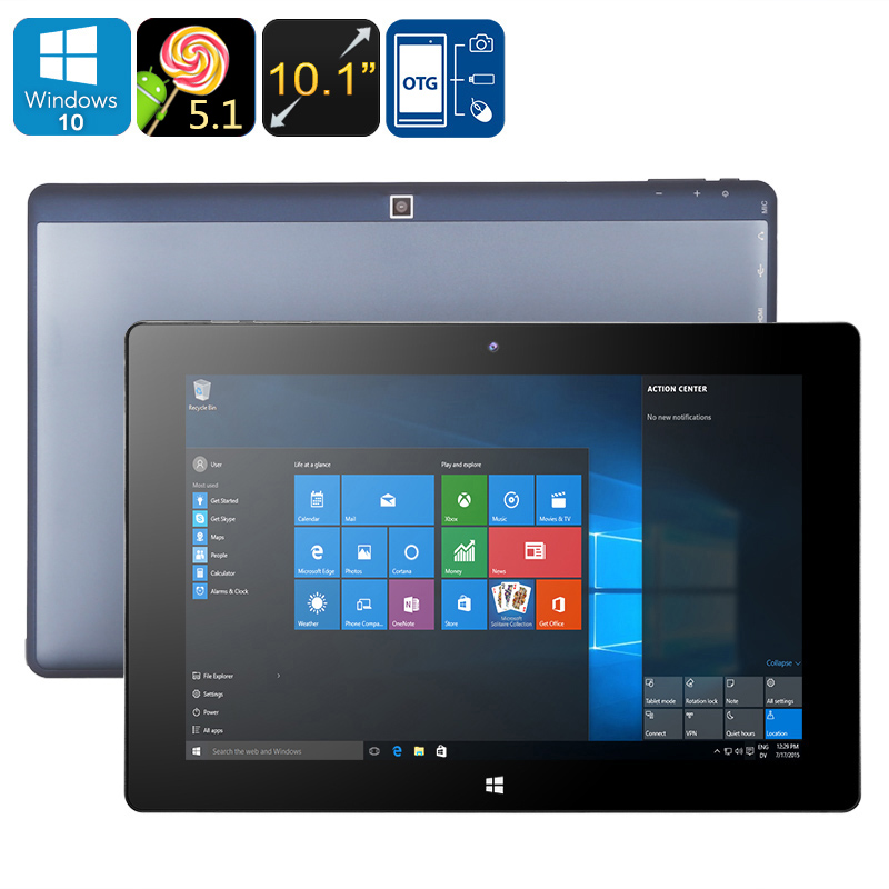 Wholesale 10.1 Inch Windows 10 Tablet PC (Quad Core CPU, OTG, Wi-Fi, Bluetooth, Micro SD Card Slot, 32GB)