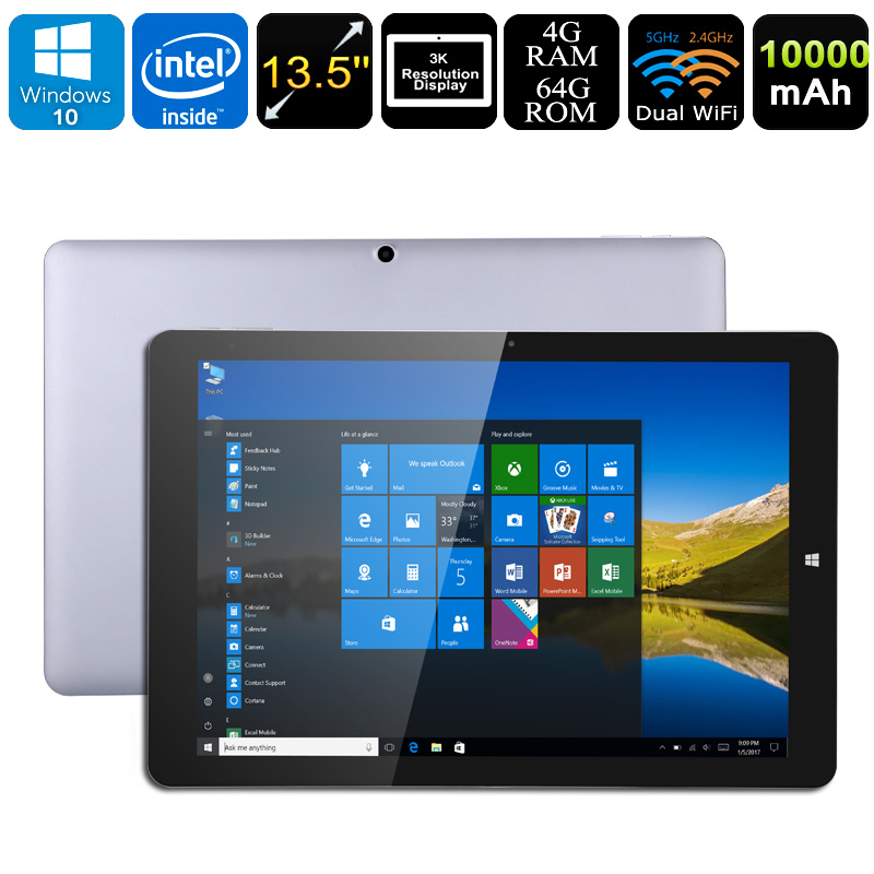 Wholesale Chuwi Hi13 - 13.5 Inch 3K Windows 10 Tablet PC (N3450 CPU, 4GB RAM, Dual-Band WiFi, 10000mAh, Micro HDMI, 64GB)