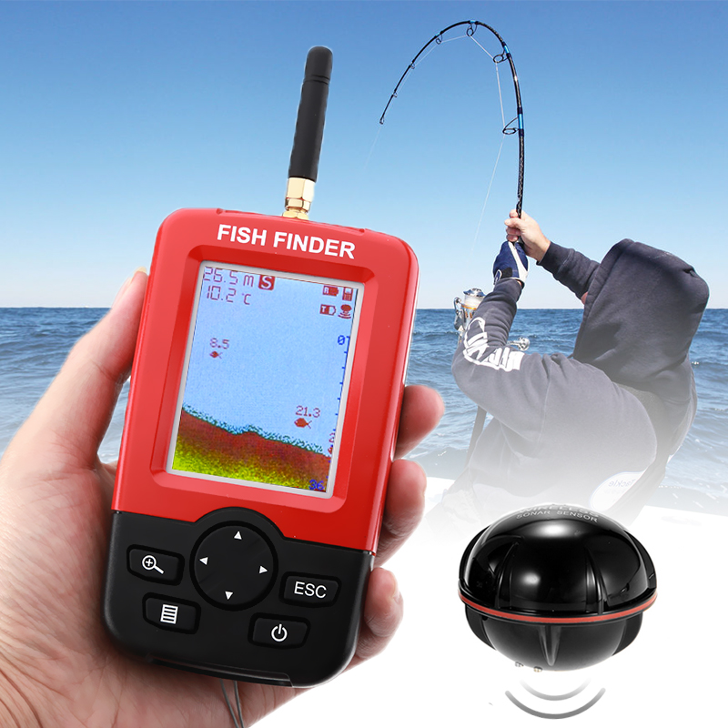 Wholesale Sonar Wireless Fish Finder (36 Meter Depth, Fish Size Display, 90 Degree Sensor)