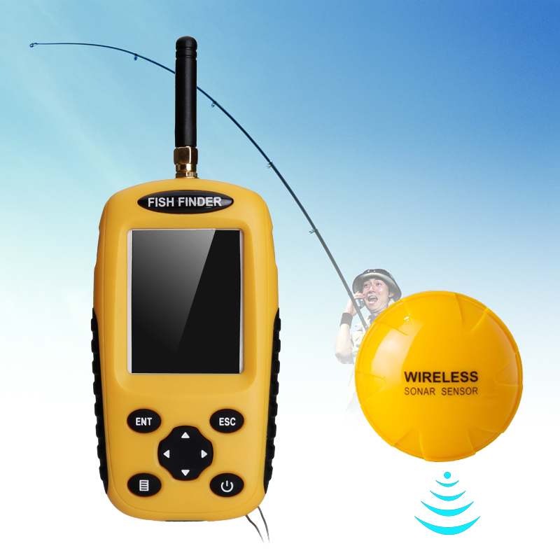 Wholesale Sonar Wireless Fish Finder (100 Meter Range, 90 Degree Sensor)