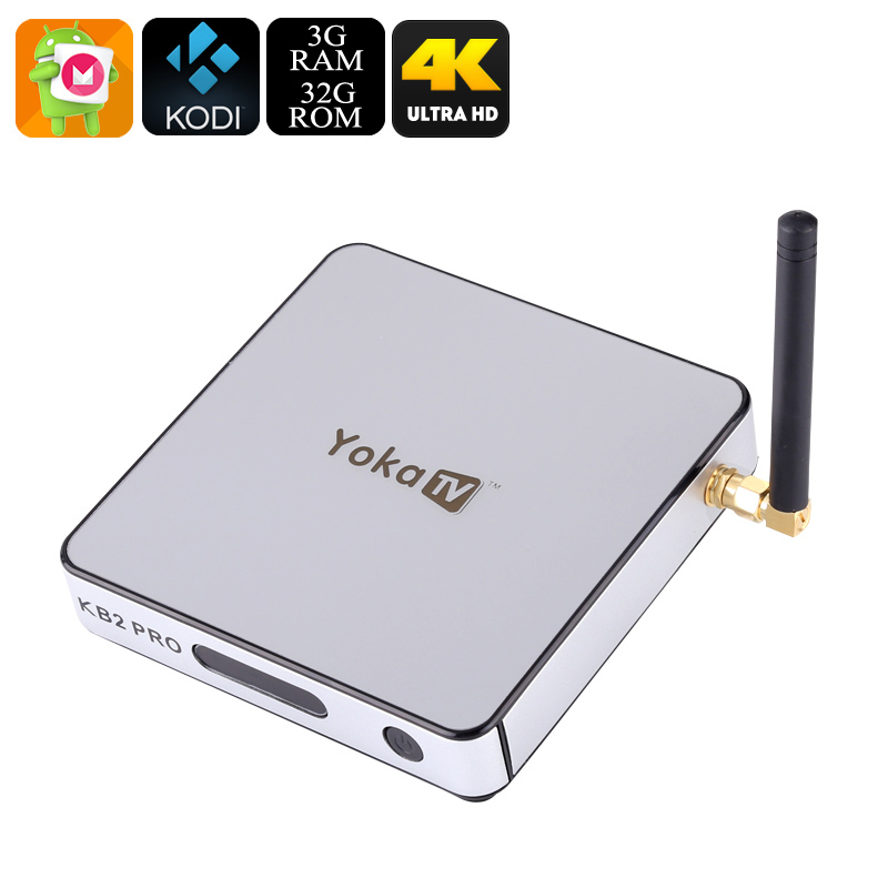 Wholesale YOKA TV KB2 Pro 4K Video Android TV Box (S912 Octa-Core CPU, 3GB RAM, Miracast, Airplay, 32GB)
