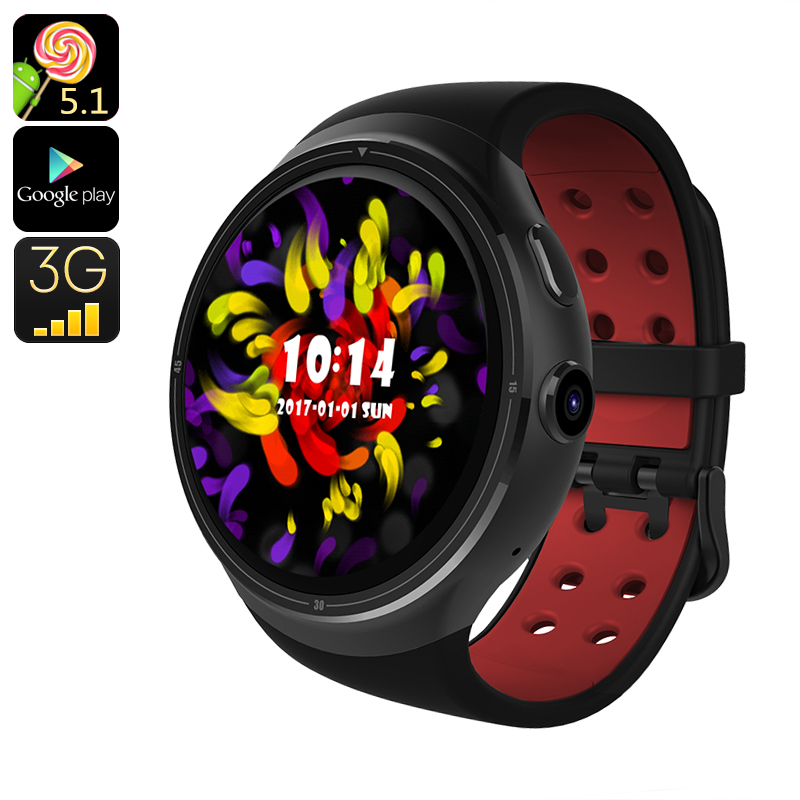 Wholesale Z10 3G Smart Android Watch for iPhone / Android Phone (GPS, Bluetooth, Quad Core CPU, 16GB, Black)