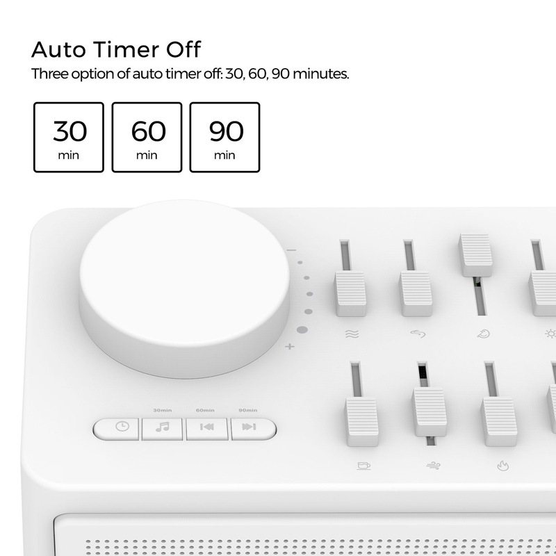Zidoo White Noise Generator for Sleep Aid (Bluetooth, AUX In